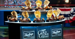 Rawlings Gold Glove Award trophies